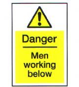Danger Men Working Below 3